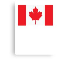 Canada Canadian Flag Maple Leaf Canvas Print