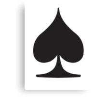 Poker Spade Suit Canvas Print