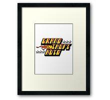 Grand Theft Auto (First, Original Logo) Framed Print