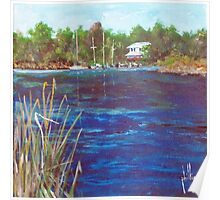 View from Jacksonville Old Town Marina Poster