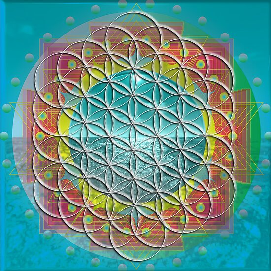Flower of Life Mandala by shoffman