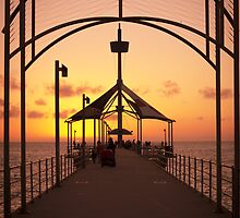 Sunset Pier by Ray Warren