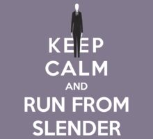 Keep Calm And Run From Slender Kids Clothes