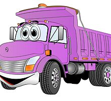 Purple Cartoon Dump Truck by Graphxpro
