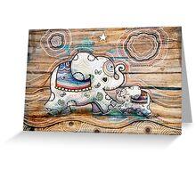 Lucky Star Elephants Greeting Card