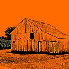 Barn in Orange by MarjorieB