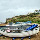 Boats At Burton Bradstock by Susie Peek