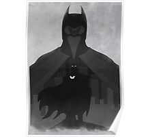JLA: Batman Minimalist Comics Justice League of America Poster