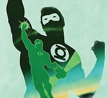 JLA: Hal Jordan Green Lantern Minimalist Comics Justice League of America by markitzero