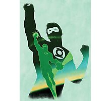 JLA: Hal Jordan Green Lantern Minimalist Comics Justice League of America Photographic Print