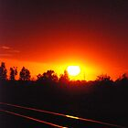 Sunset at the Railroad II  by Vonnie Murfin