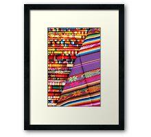 Colorful Linens in Otavalo Framed Print