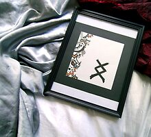 Inguz the Norse Rune Abstract Art by VibrantDesigns