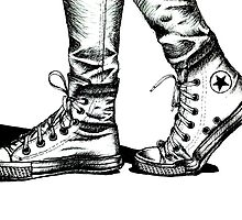 Ink Drawing Print of CONVERSE ALL STAR by Aelyah