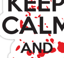 Keep calm and eat brains Sticker