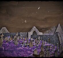 Ancient Cemetery in the Night by dianegaddis