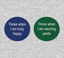 Times when I'm happy. Times when I'm not wearing pants venn diagram by keepers
