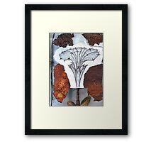Organic Flower Framed Print