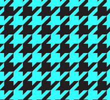 Houndstooth - Aqua / Black by Surpryse