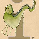 I is for IGUANA by busymockingbird