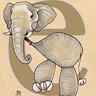 E is for ELEPHANT by busymockingbird