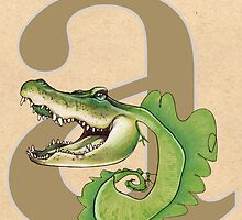 A is for ALLIGATOR by busymockingbird