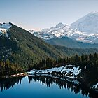 Rainier in Fall - Snoqualmie N. F. by Mark Heller