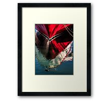 Red boat reflected Framed Print