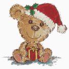 Teddy bear at Christmas by Toru Sanogawa