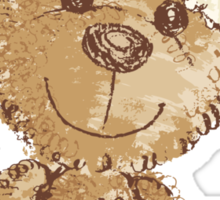 Teddy bear at Christmas Sticker