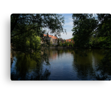A Glimpse Through the Trees - Bruges, Belgium Canvas Print