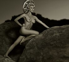 Art Nudes at mountains in California 2 by Anton Oparin