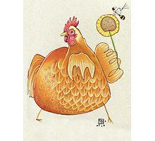 Sunflower Hen Photographic Print