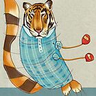 Tiger in Stripes by busymockingbird