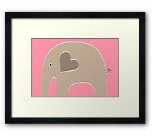 Safari Elephant - Pink Framed Print