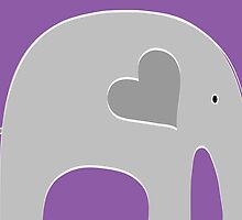 Purple Elephant by Elephant Love