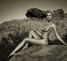 Art Nudes at mountains in California by Anton Oparin