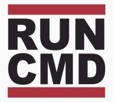 Run Command Black Text Kids Clothes