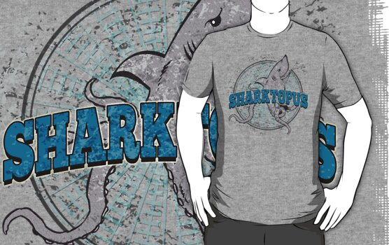 Sharktopus - Shark Octopus Hybrid Sea Monster - Shark Attack - Shark Octopus Horror B Movie Parody by traciv