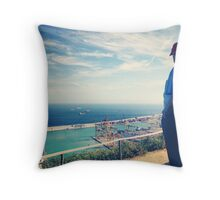 Looking Out on the Mediterranean Throw Pillow