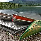 Boats on Pyramid Lake by GregorDyer