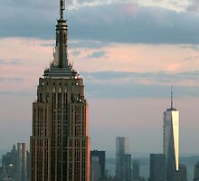 Empire State Building and Freedom Tower by GregorDyer