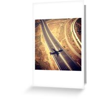 Plane Crossing Greeting Card