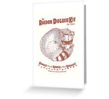 The Raccoon Disguise Kit for Foxes Greeting Card
