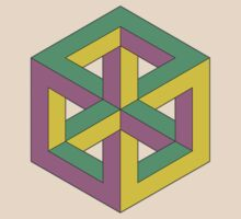 Penrose Cube - Green Purple Yellow by VanHogTrio