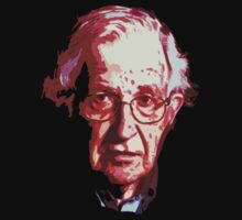 Noam Chomsky - CO-Dark Background by portispolitics