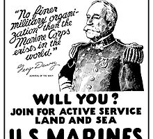 George Dewey US Marines Recruiting  by warishellstore