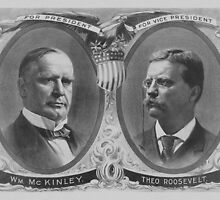 McKinley and Roosevelt Election Poster by warishellstore
