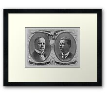 McKinley and Roosevelt Election Poster Framed Print