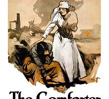 The Comforter -- Red Cross by warishellstore